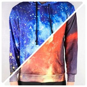 Other - 💰 BUNDLE AND SAVE 💰 Red Nebula + Galaxy Hoodie🔥
